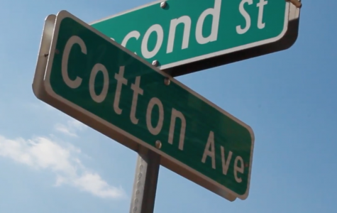 Why is Cotton Avenue diagonal?