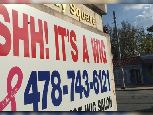 Just Curious: What's the story behind the Shh! It's a Wig business in Macon?