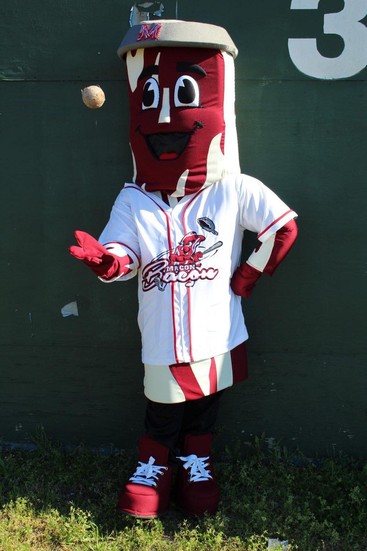 Macon Bacon Mascot, Kevin Bacon.