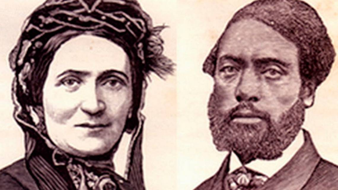 Ellen and William Craft, of Macon, who escaped from slavery.