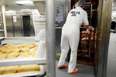 A woman's place is in the kitchen for inmates at the Bibb County Jail