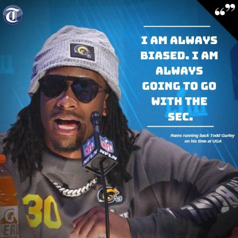 Todd Gurley shared part of why he chose the University of Georgia at Super Bowl Opening Night