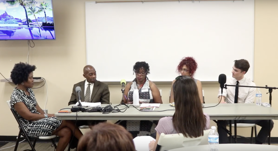 Panelists discuss improving food access and health at the Rosa Jackson Recreation Center.