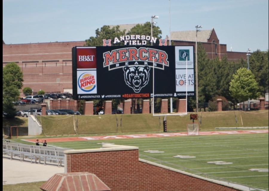 Mercer University got a bigger jumbotron.