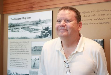 Former Ocmulgee Mounds Superintendent Jim David in the park museum.