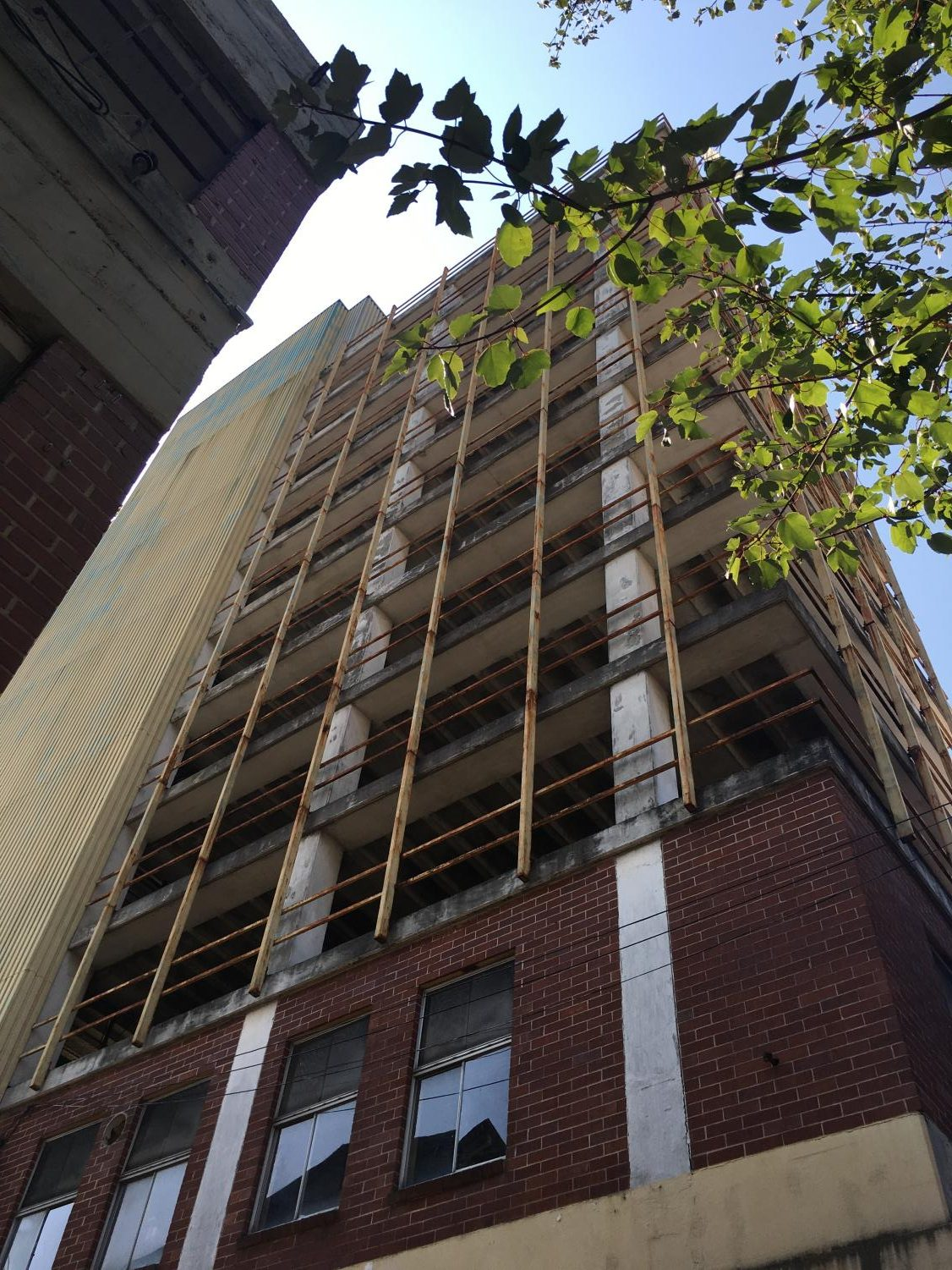 The old parking deck adjacent to the Dempsey Apartments is being put up for sale by the Macon-Bibb County Urban Development Authority for future residential or office lofts or condominiums.