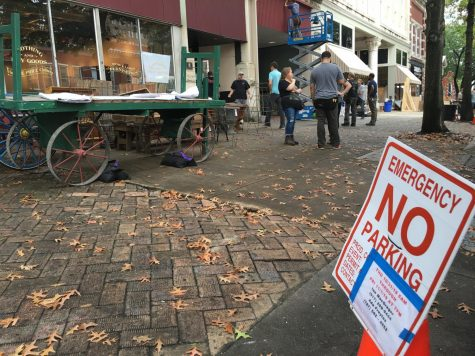 Film crews begin setting up Thursday for an HBO production to be filmed along Second Street between Cherry Street and Mulberry Street and along Cotton Avenue.