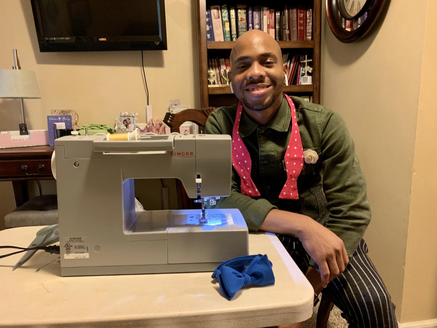 Aaron Brown is the founder and creator or BowFRESH Bowties. Photo credit: Meg Oldham