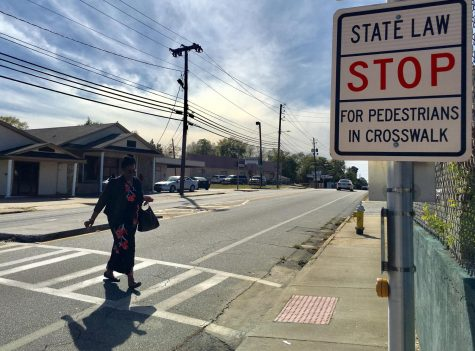 An enhanced crosswalk and median was added to Montpelier Avenue to improve pedestrian safety.