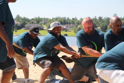 Macon-Bibb County workers compete in the tug-of-war at the 2019 Employee Wellness Field Day in May.