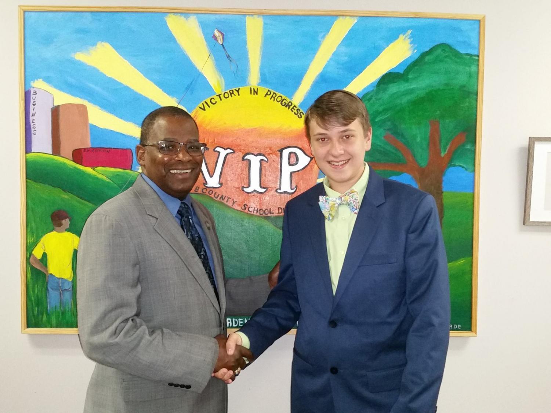 Ben Trofemuk and Bibb County School Superintendent Dr. Curtis Jones.