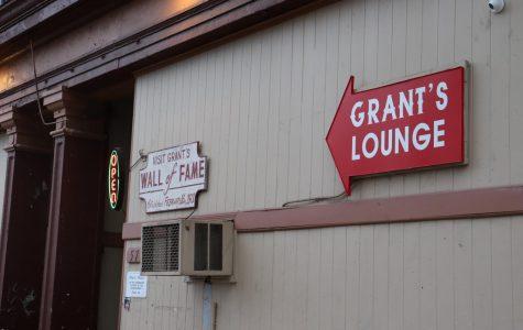 Entrance of Grant's Lounge at 576 Poplar Street.