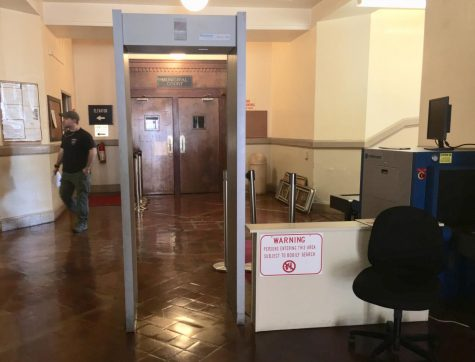 Bibb County sheriff's deputies no longer staff the Government Center metal detector after Municipal Court moved to the courthouse.