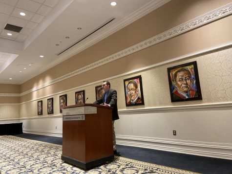 Princeton University history professor, Kevin Kruse presented the Byington lecture at Mercer University on Jan. 23. Photo credit: Serena Golden