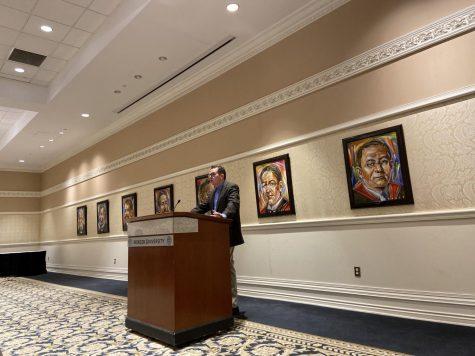 Princeton University history professor, Kevin Kruse presented the Byington lecture at Mercer University on Jan. 23. Photo credit: Serena Golden