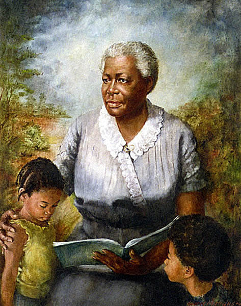 Lucy Craft Laney was a Macon born educator and founded a school for Black children, the Haines Normal and Industrial Institute, in  1883. The oil painting is located on the 3rf floor of the Georgia Capitol Building in Atlanta.