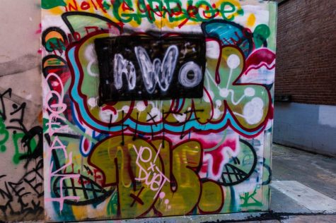 """Graffiti wall near Piedmont Brewery. """"We even had a group of school children come out on a field trip and make their mark on the wall!"""" Macker said."""