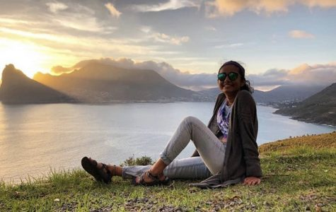 Nishi Patel at Chapman's Peak in Cape Town, South Africa.