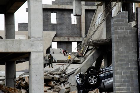 CBIRF Marines simulate a search and rescue in a collapsed structure at Guardian Centers on June 19.