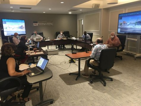 The Macon-Bibb County Planning and Zoning Commission took a public comment via Zoom during its socially-distanced hearing Monday at Terminal Station.