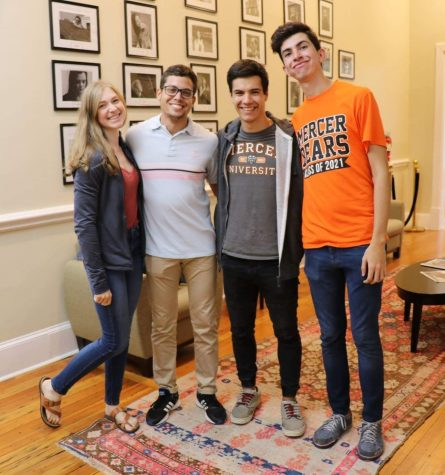 Luis Elkhouri and Lichi Acosta with fellow students at the Robert McDuffie Center for Strings. Photo courtesy of Lichi Acosta