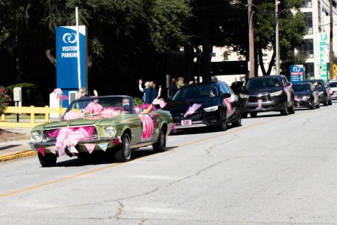 42 breast cancer survivors kicked off Breast Cancer Awareness Month with a Care-A-Van parade circling the Medical Center, Navicent Health on Oct. 2nd.