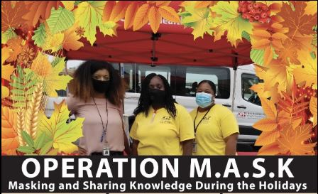 Macon-Bibb County Health Department and its community partners  pass out face masks and COVID-19 information during a drive-thru holiday event held Thursday.