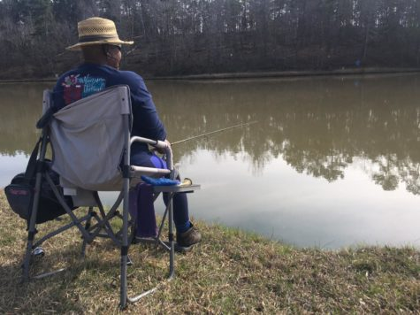Trellis Hamilton had yet to catch a fish Friday afternoon at Javors Lucas Lake, but her husband had a trout on the line on the first day of fishing season at the Macon Water Authority reservoir.