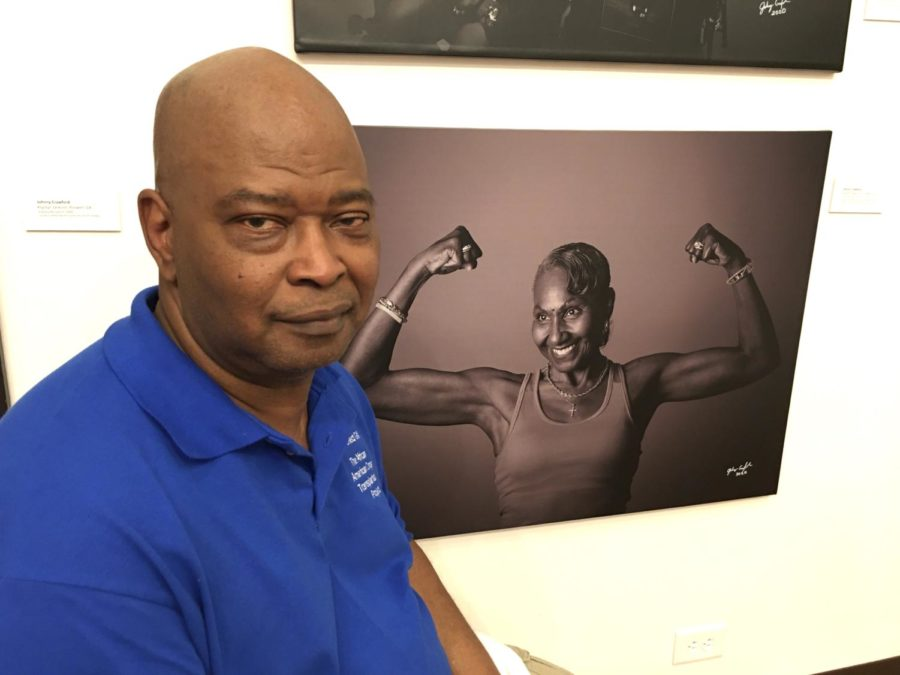 Photographer Johnny Crawford, who received a stranger's kidney, hopes his portraits in the African American Transplantation Project will inspire more Blacks to donate organs. His photograph of Hildred Peggy Lyons'