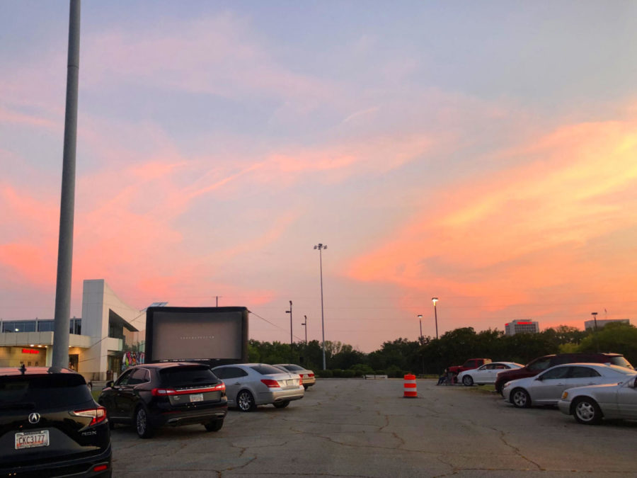 The Macon Centreplex's Cars Under the Stars Drive-in Movie event, July 2020.    (Good Job on this story!)