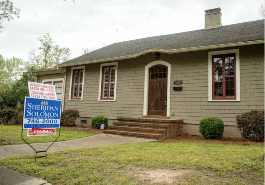 House pending sale on Vista Circle in Macon in March. With a sharp decline in houses for sale, Maconites looking for a new home are competing by making quick offers, often above the listing price. Low interest rates, a lack of new home builds and increased demand during the pandemic have contributed to a seller's market.