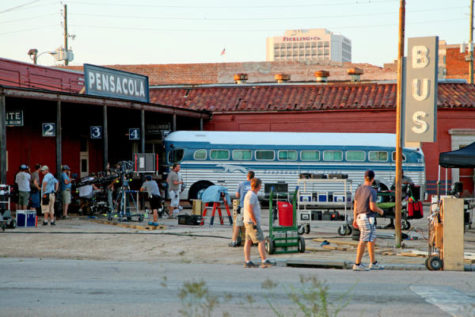 Set of a movie filmed in Macon