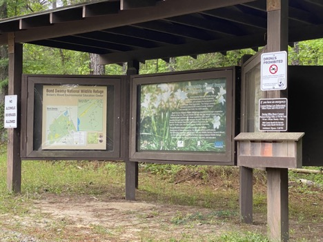 Visitor's information at Brown's Mount Trail.