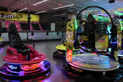 Urban Air features a plethora of activities, such as trampolines, a ropes course, laser tag and, featured in the photo above, bumper carts.