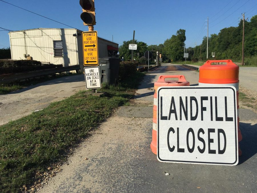 Macon's municipal solid waste landfill is closed to household garbage and will only accept construction and demolition bulky waste until the end of the year.