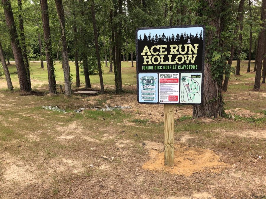 The entrance of the new Junior Disc Golf Course