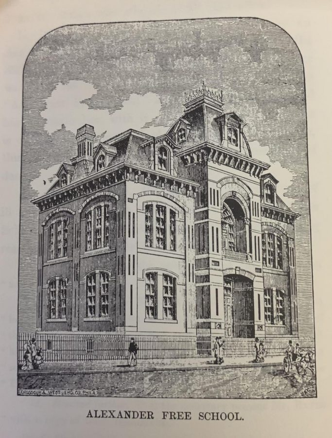 Photo of the front of Alexander Free School