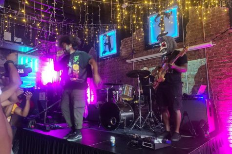 Punk rock band Howling Star performs at Punk Blacks final pop-up show of the year Aug. 14, 2021, at Our Bar in Atlanta. Punk Black is an organization founded in 2015 to create inclusive spaces for Black and brown punk artists.