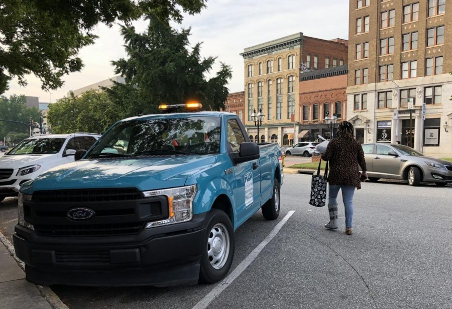 Downtown+Macon+ambassadors%2C+who+cruise+around+in+this+blue+pickup%2C+help+keep+streets+clean+and+safe.+
